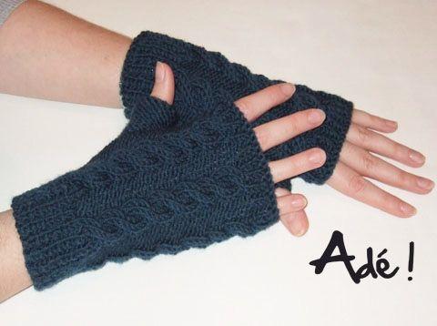 Imprimer patron tricot mitaine avec pouce a voir sur - Comment tricoter des mitaines avec doigts ...
