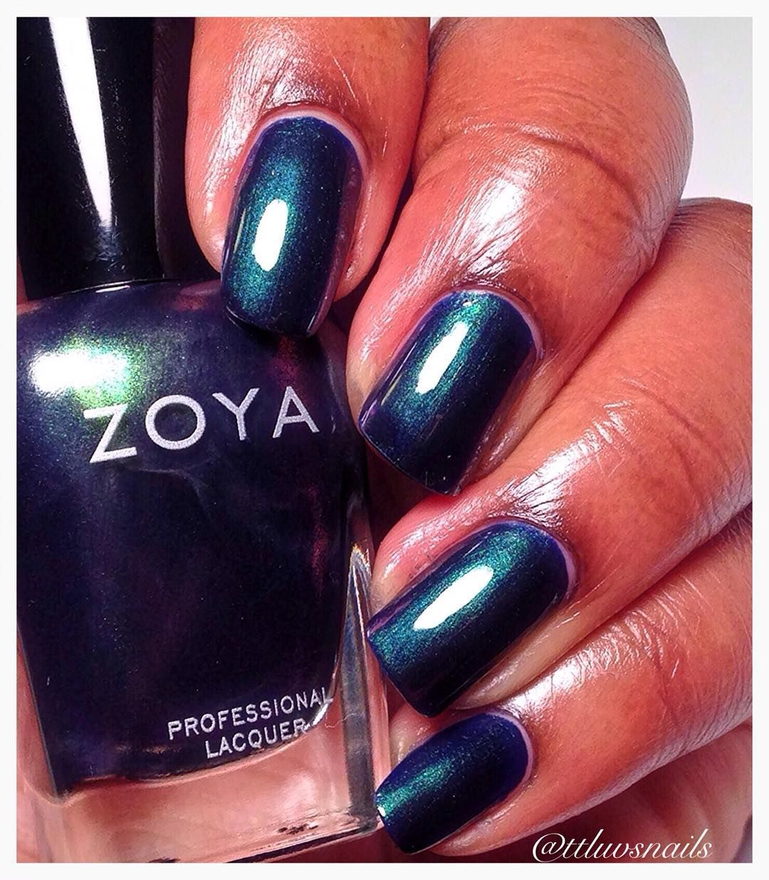Zoya Olivera On Dark Skin Green Nail Polish