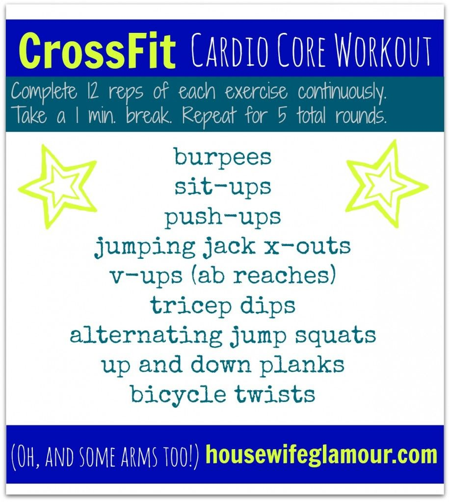 Crossfit Workout Routines: CrossFit (inspired) Cardio Core Workout. #FitFluential