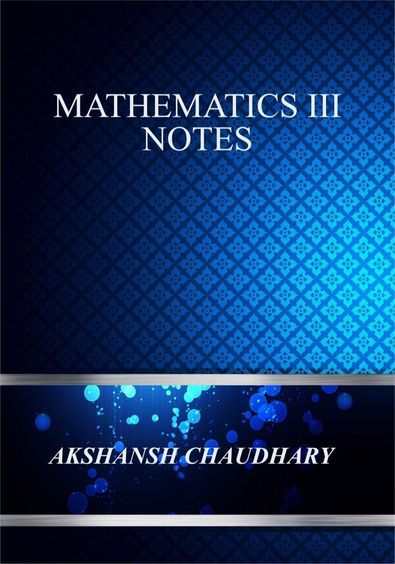 Advanced Mathematics by Akshansh Chaudhary via slideshare
