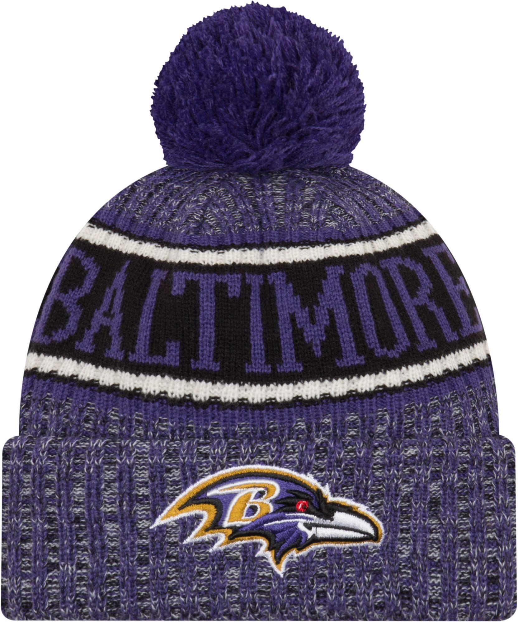 1203af1fce866 New Era Men s Baltimore Ravens Sideline Cold Weather Reverse Purple ...