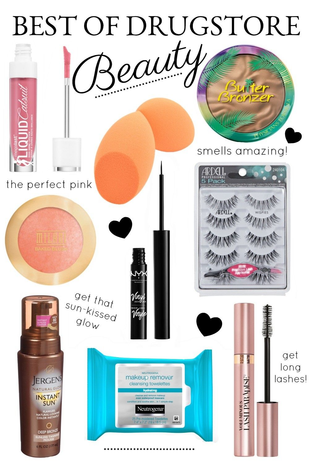 My Drugstore Beauty Favorites Best makeup products