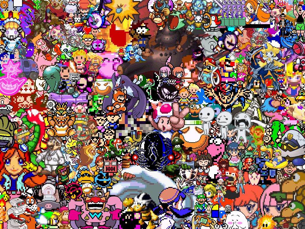 8bit nintendo characters Nintendo Pinterest More