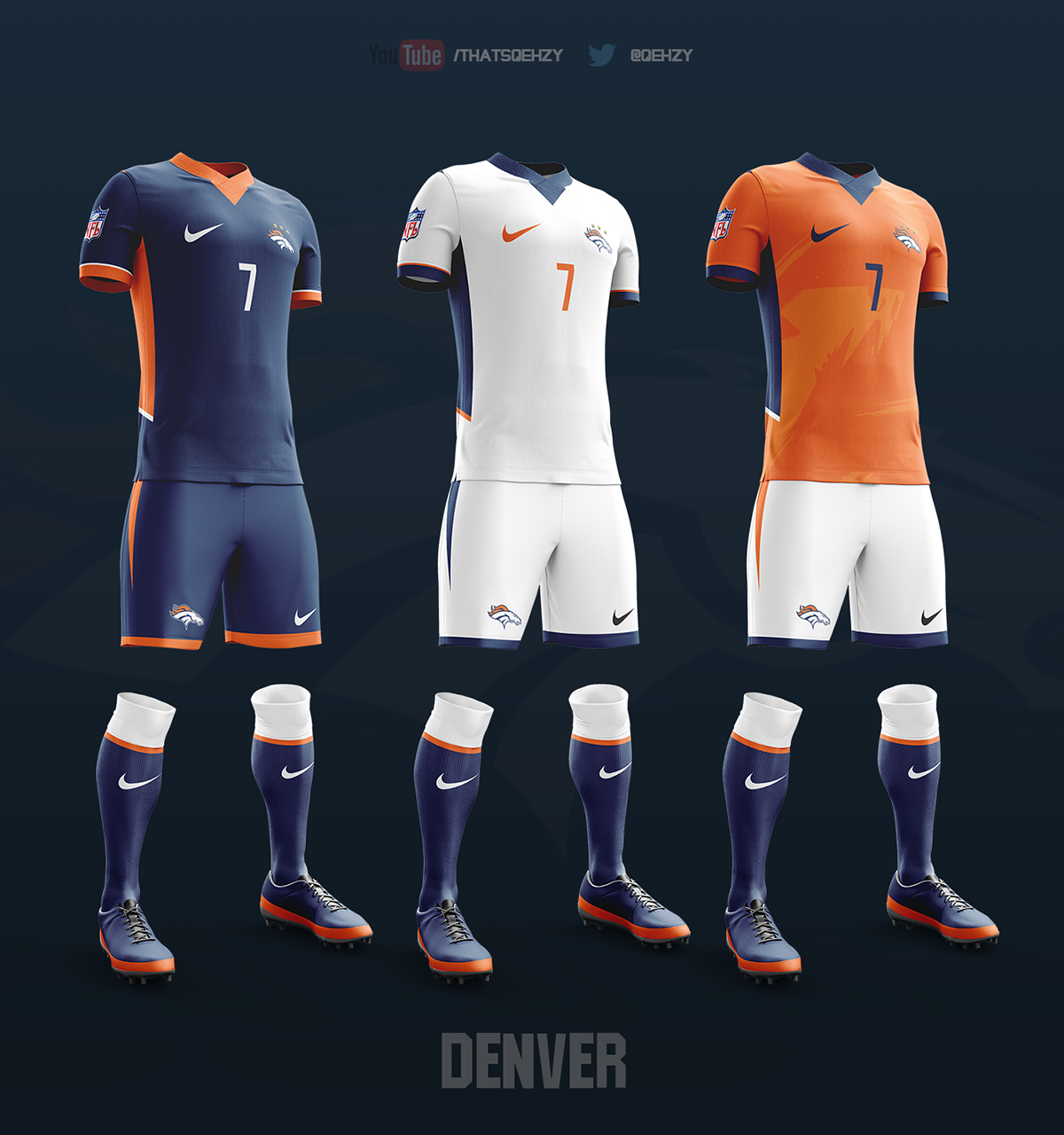 NFL Soccer Kits on Behance  Jerseys  Soccer kits, Soccer, Soccer shirts