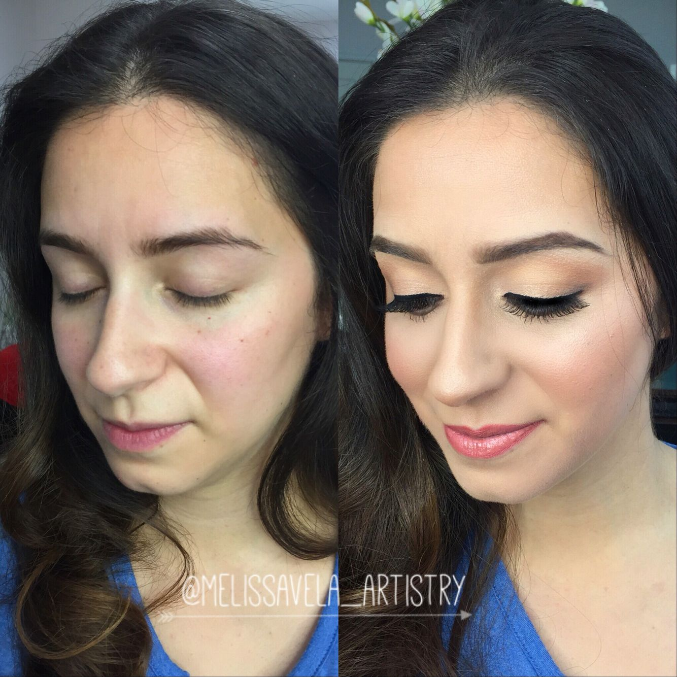 airbrushed before and after makeup #airbrush #makeup