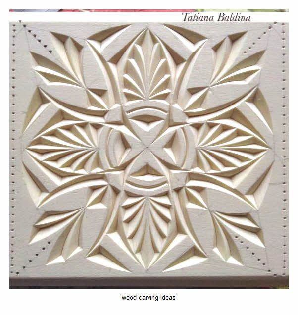 Chip wood carving pattern for beginner example