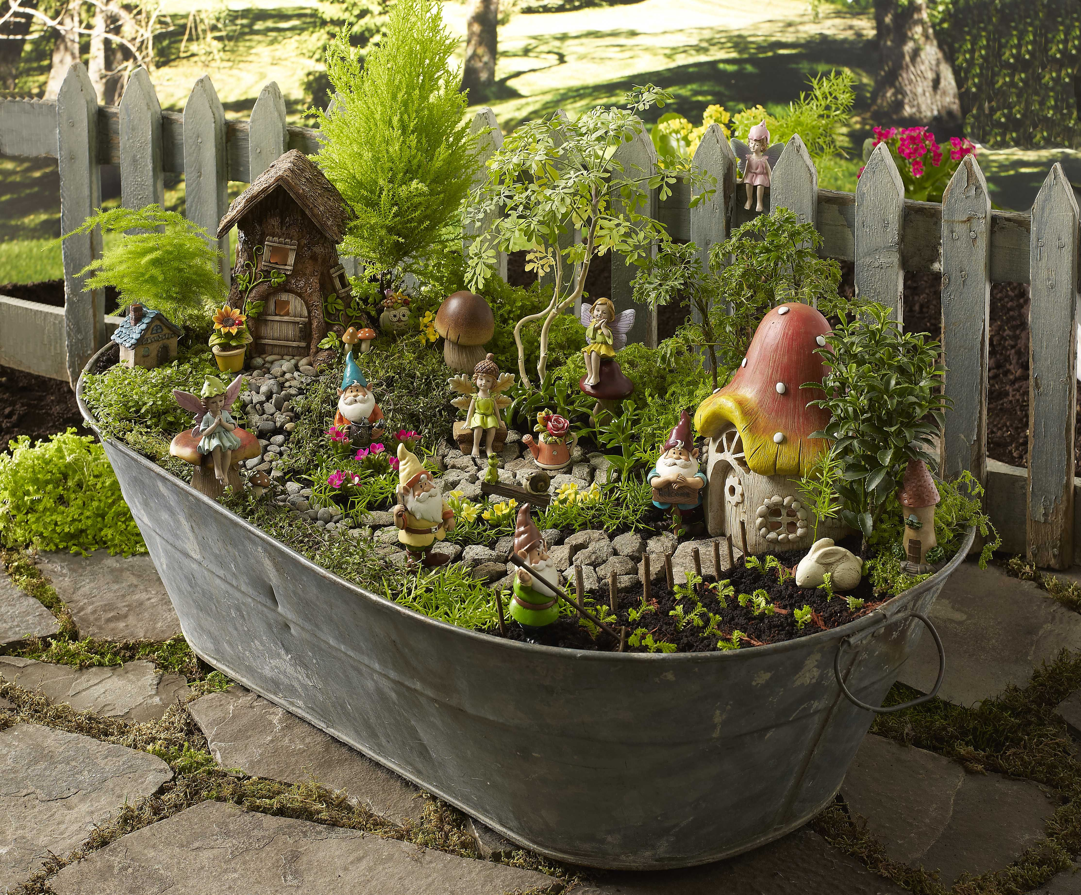 The fun of designing a fairy garden is finding unusual containers ...