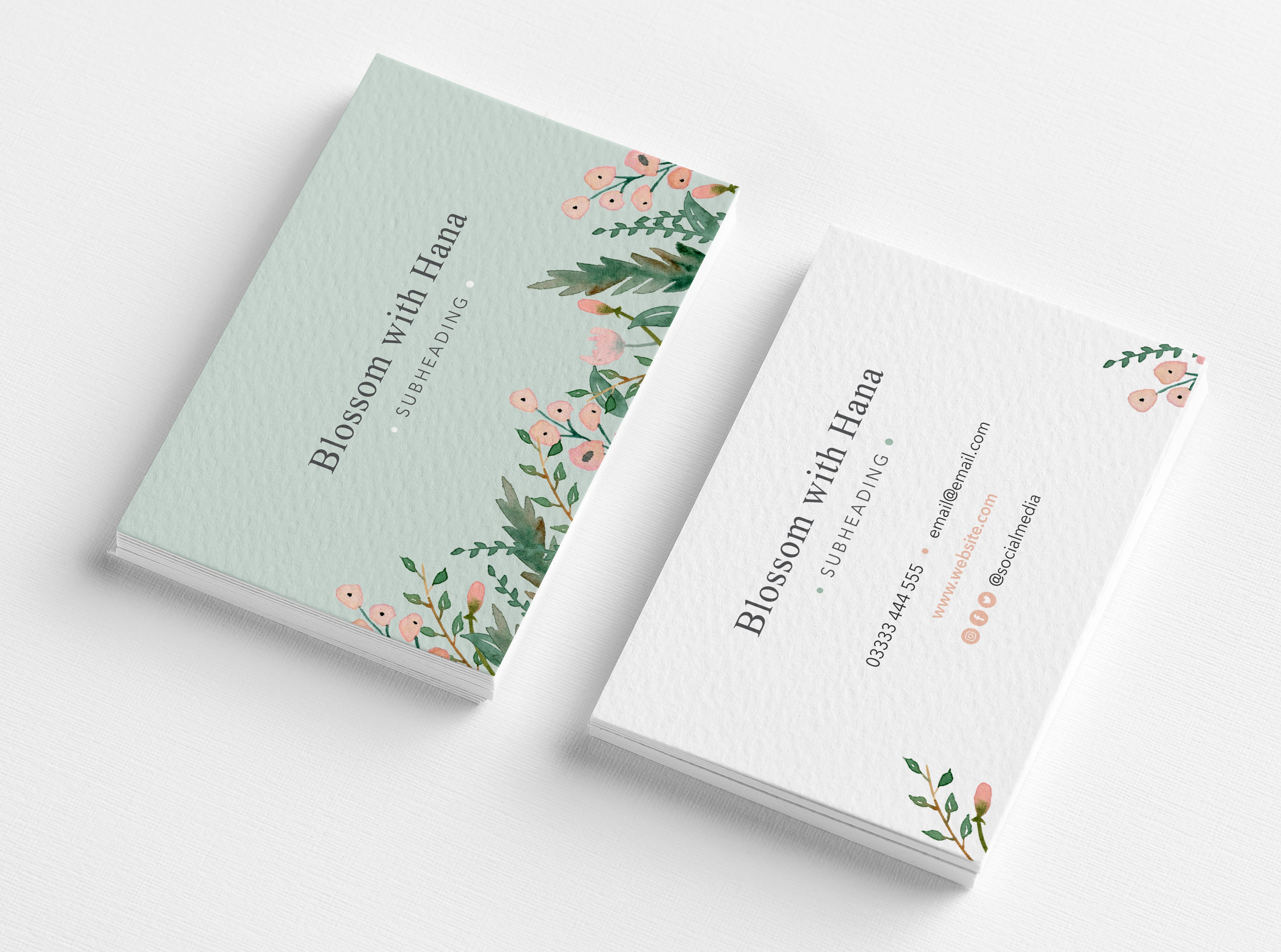 Custom Floral Business Cards Business Stationery Floral Business Cards Unique Art Prints Custom Business Cards