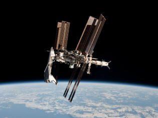 Ônibus e Estação Espacial Internacional