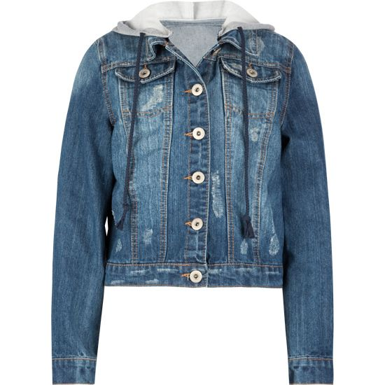 tillys | Hooded denim jacket, Denim, Jackets