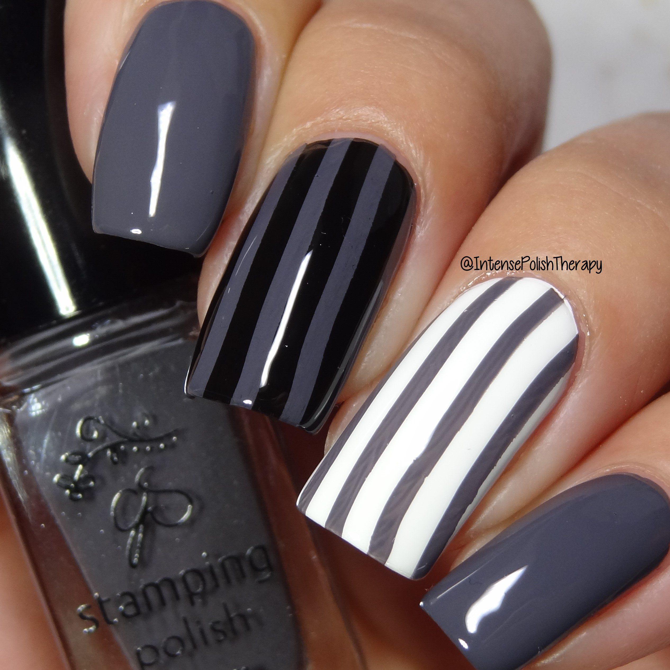 5 free formula nail polish  7 Slate Gray - Nail Stamping Color (7 Free Formula ...