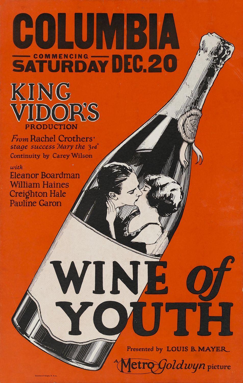 Wine Of Youth Film Posters Ad Wine Bottle Illustration Corange Winelove