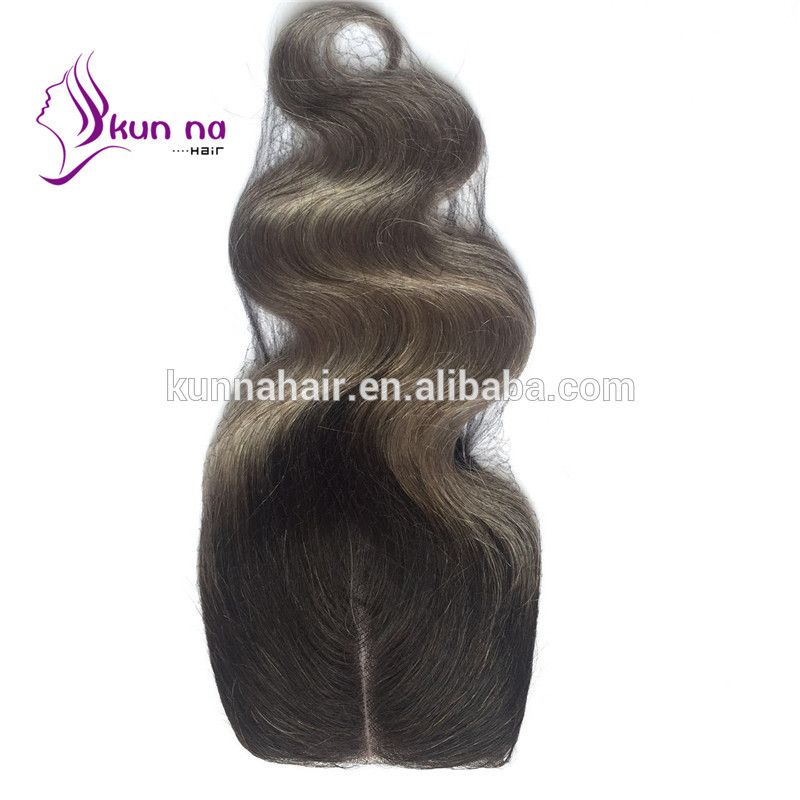 Cheap Price Lace Closure Ombre Hair Color 100 Human Hair Extension