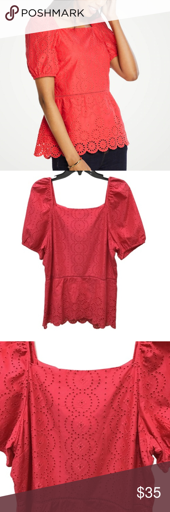 Anthropologie Tops | Anthropologie Clovelly Scalloped