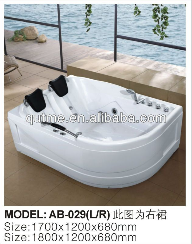 1 Double Bathtub Twin Whirlpool Massage Bathtub For Lovers Couples 2 Certificate Ce Rohs Lvd Emc Iso 3 Material Abs Double Bathtub Indoor Hot Tub Bathtub