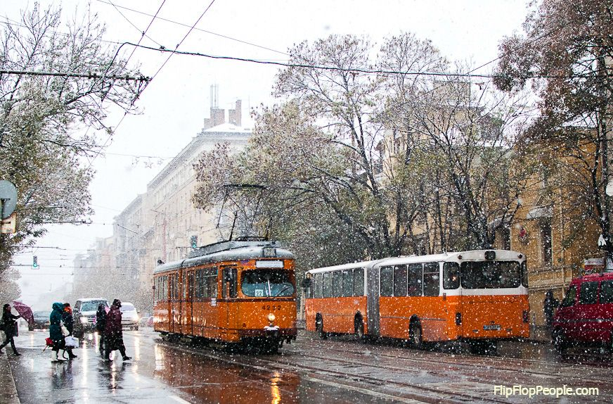 Early snow in Sofia, Bulgaria!