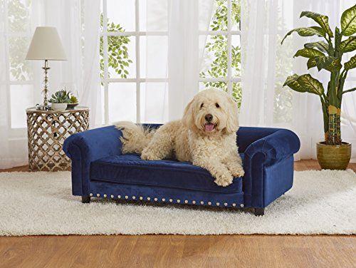 Enchanted Home Pet Manchester Velvet Sofa in Navy Enchant...