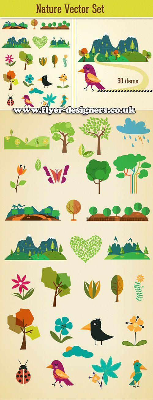 nature graphic elements suitable for ecology information leaflet design www.flyer-designers.co.uk #informationleaflet #ecologyleaflet #leafletdesign