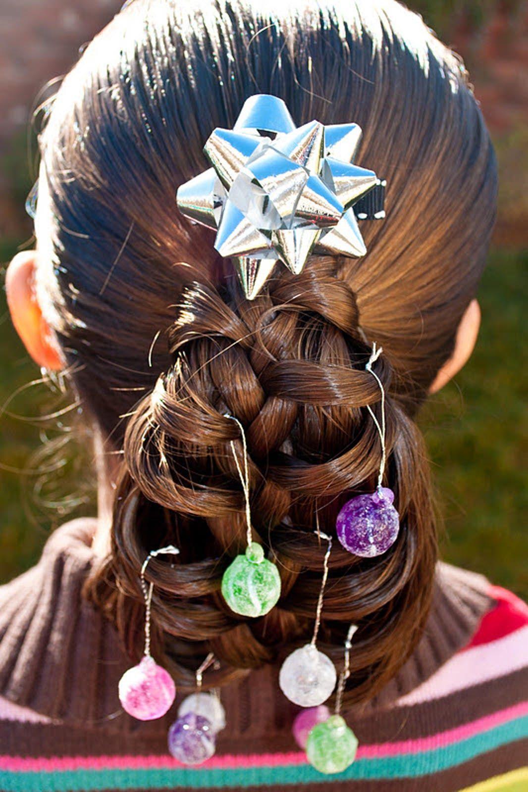 Mode Des Enfants Coiffure De Vacances Coiffure Noel Cheveux De Noel