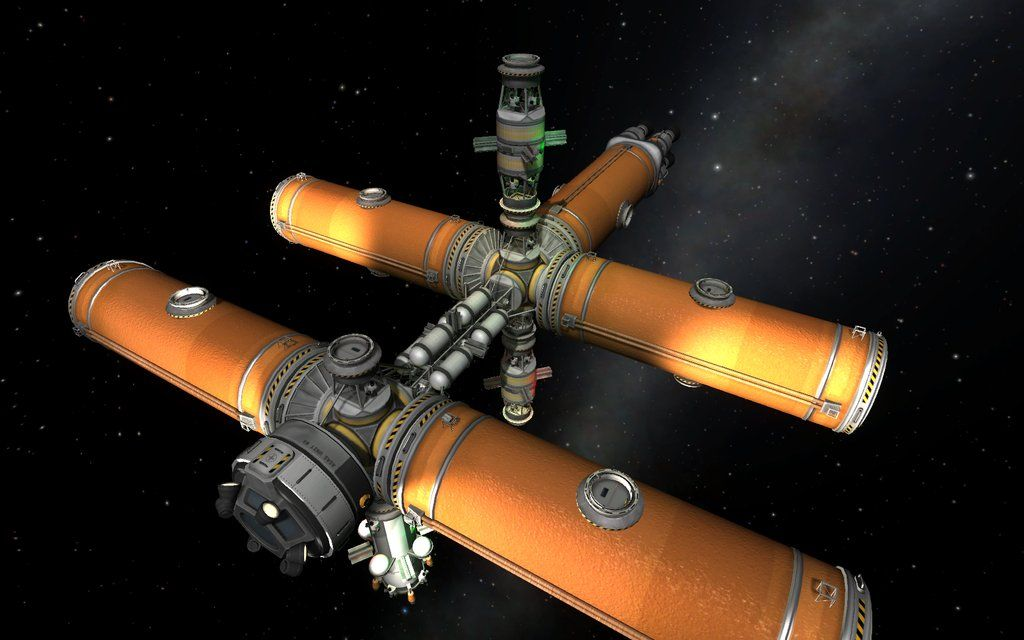 Fuel station with truss frame. | Kerbal space program ...