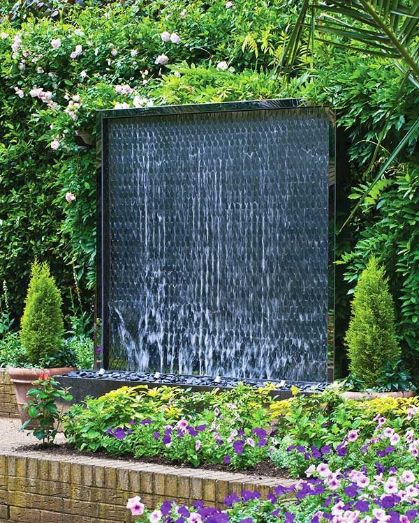 Petal Wall Water Feature As The Decorative Feature Of A Garden New