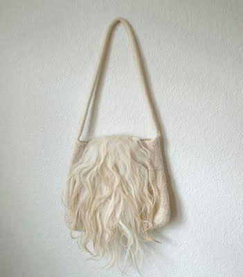 // felted bag.
