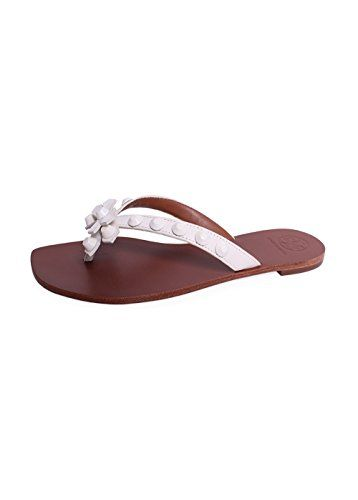 TORY BURCH Tb Aurora Thong Ivory. #toryburch #shoes #shoes