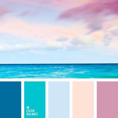 Ottenki Sommer Farbpaletten Wandfarbe Farbtone Farbschemata