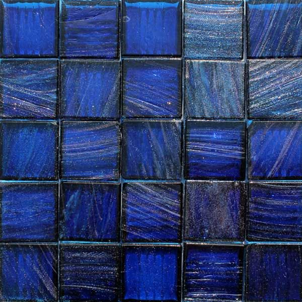 midnight blue cobalt 25 metallic glass mosaic tiles translucent