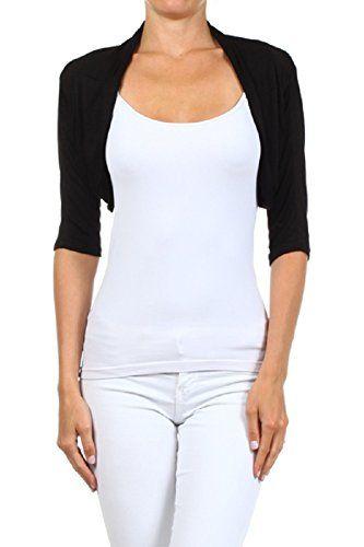 BYWX Women Lace Short Crop Long//Short Sleeve Summer Short Crop Cardigan Shrugs