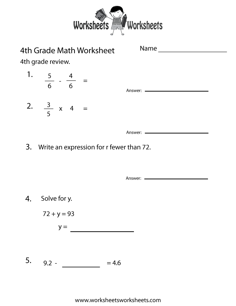 This Is A Link To Some Great Worksheets You Could Use For Morning Work Or Indep 4th Grade Math Worksheets Math Practice Worksheets Common Core Math Worksheets