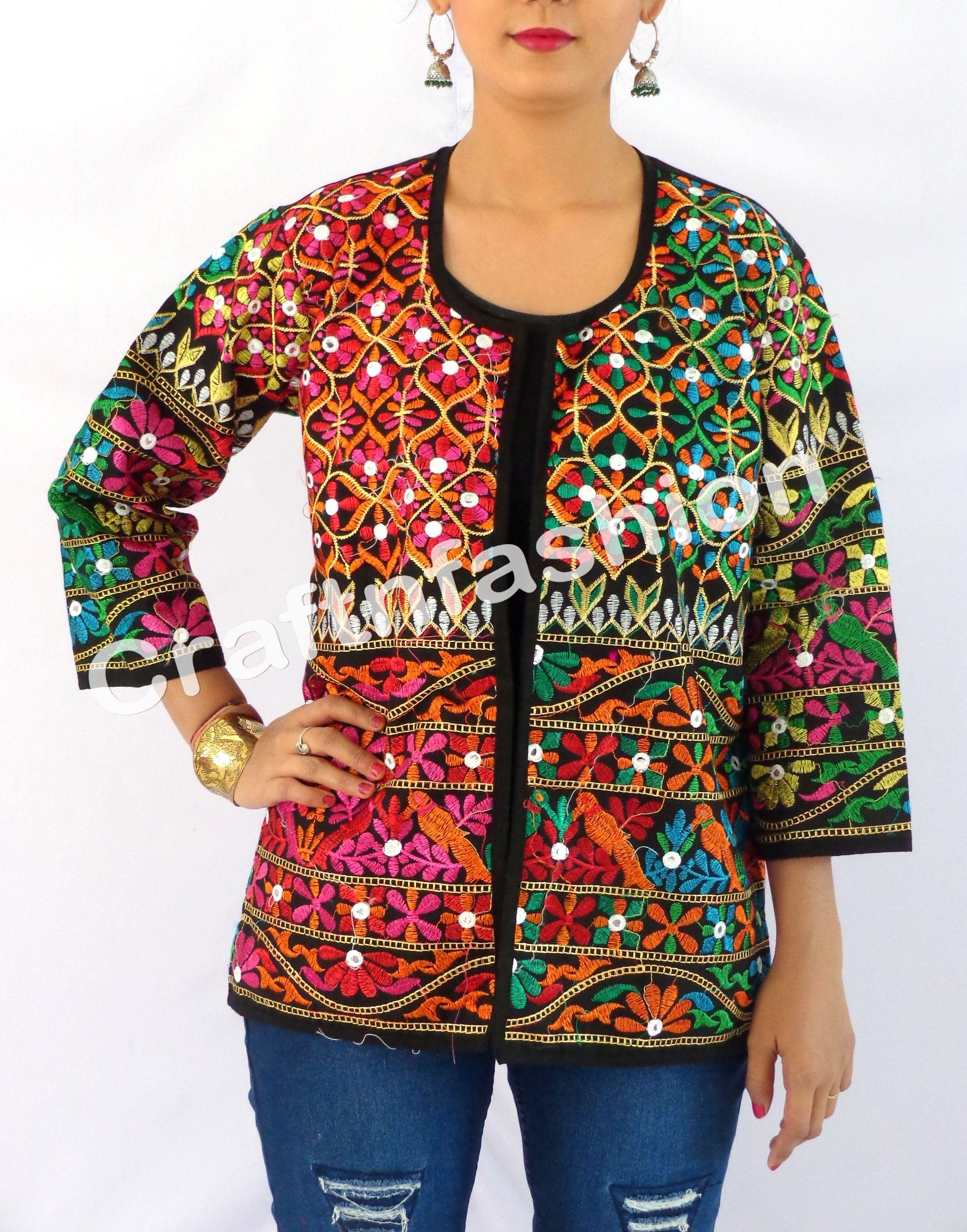 Gujarati Kutchi Jacket / Mirror Work Jacket / Indian Jacket / Traditional  Jacket / Banjara Jacket / Gypsy Jacket / boho jacket / India Embroidered  Jacket ...