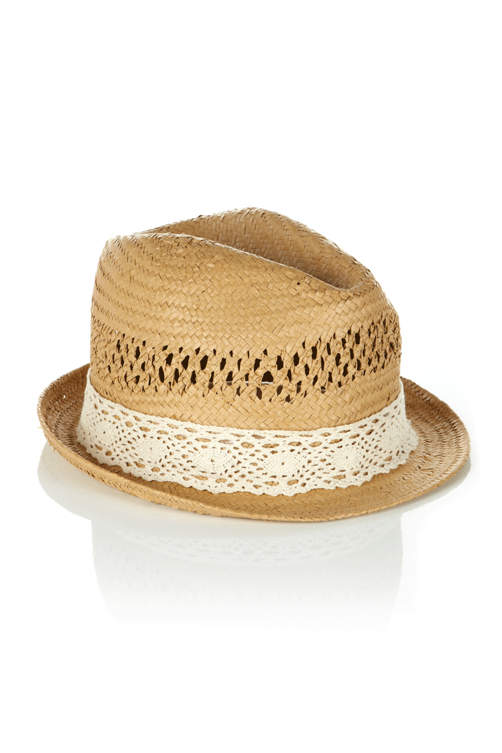 oasis shop lace trilby hat womens fashion clothing