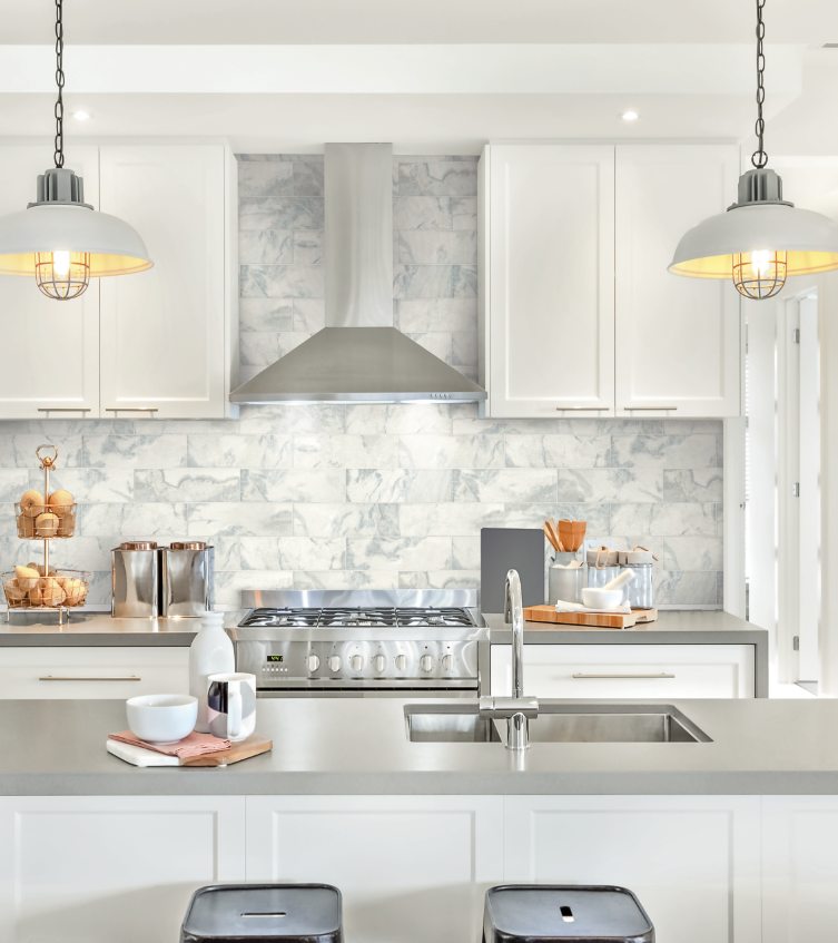 Marble Tile wallpaper for a clean and stylish look. From