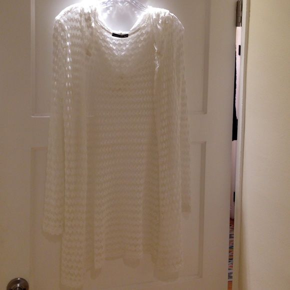 Hooded Swimsuit Cover Up - NWOT Ivory colored, hooded, swimsuit cover up. NWOT  -  PRICE FIRM unless bundled. Double Zero Swim Coverups