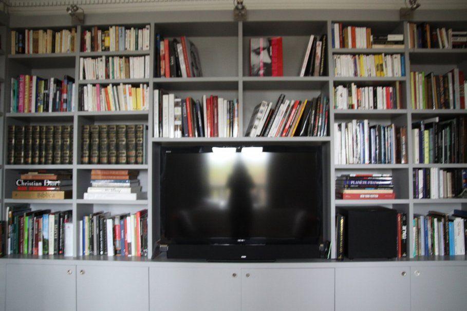meuble bibliothque tv recherche google - Meuble Tv Bibliotheque Noir