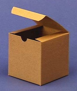 Gift box 4x4x4 easy folding set of 12 red white black or kraft brown boxes