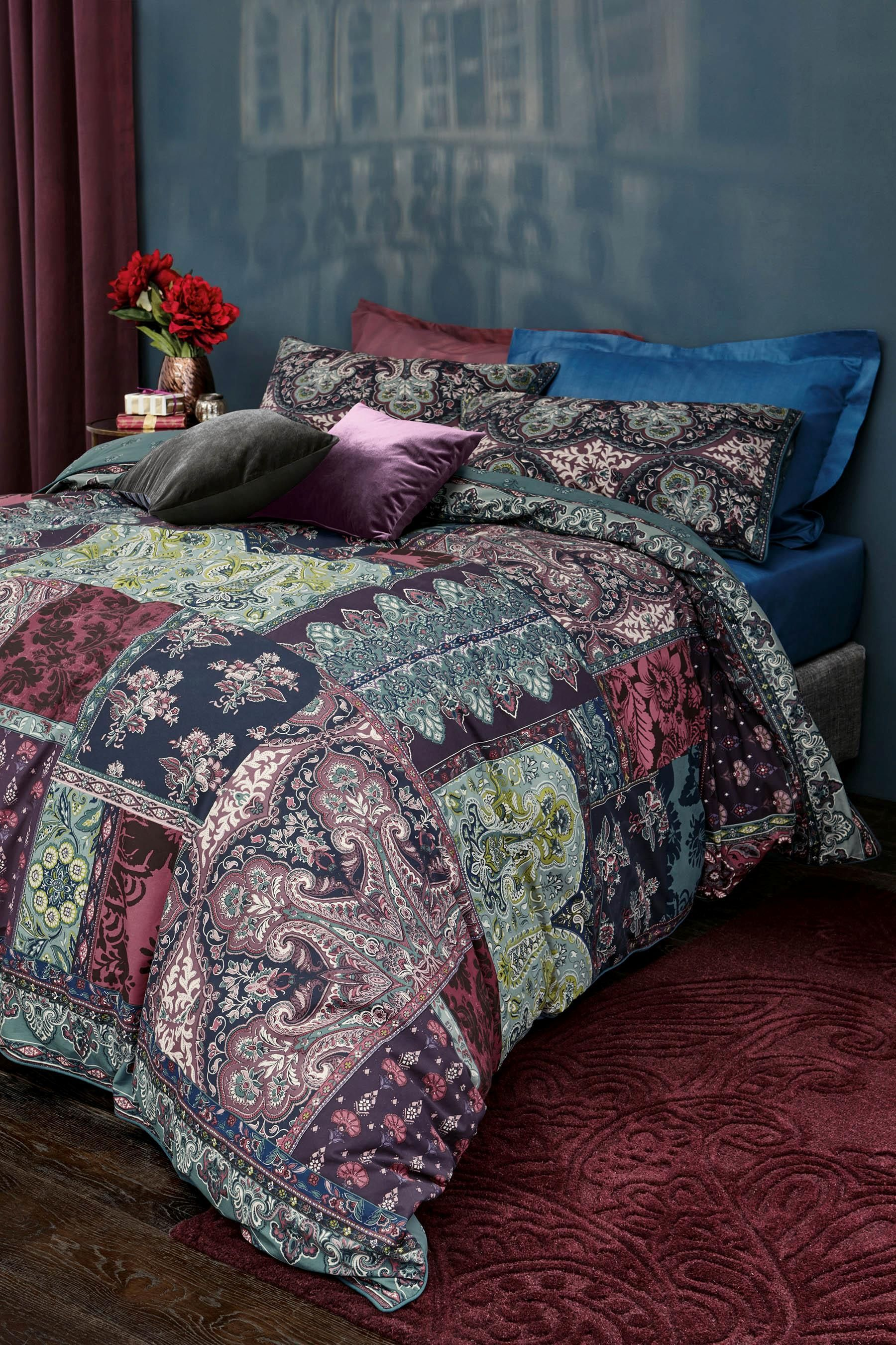 Buy Cotton Rich Patchwork Paisley Bed Set from the Next UK