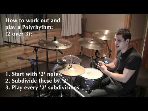 Polyrhythms Explained Part 1 2 Against 3 Drum Lesson By Troy