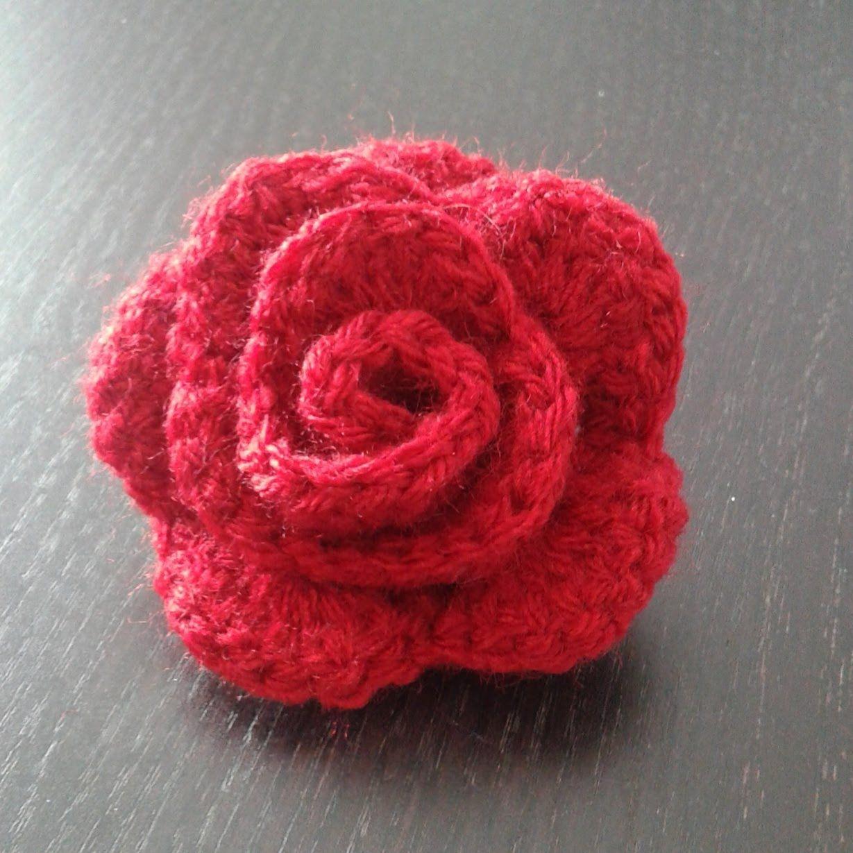 la rose au crochet   crochet   pinterest   crochet, crochet flowers