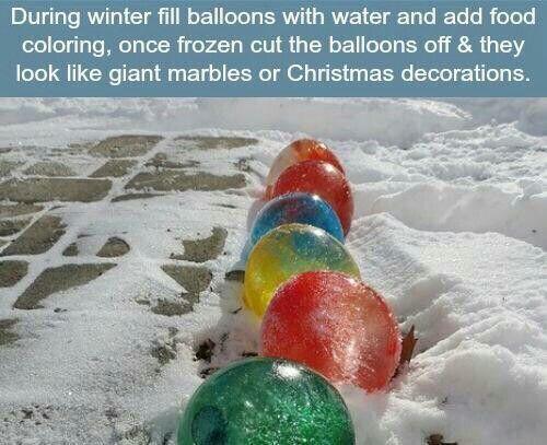 Frozen Water Balloon Decor For