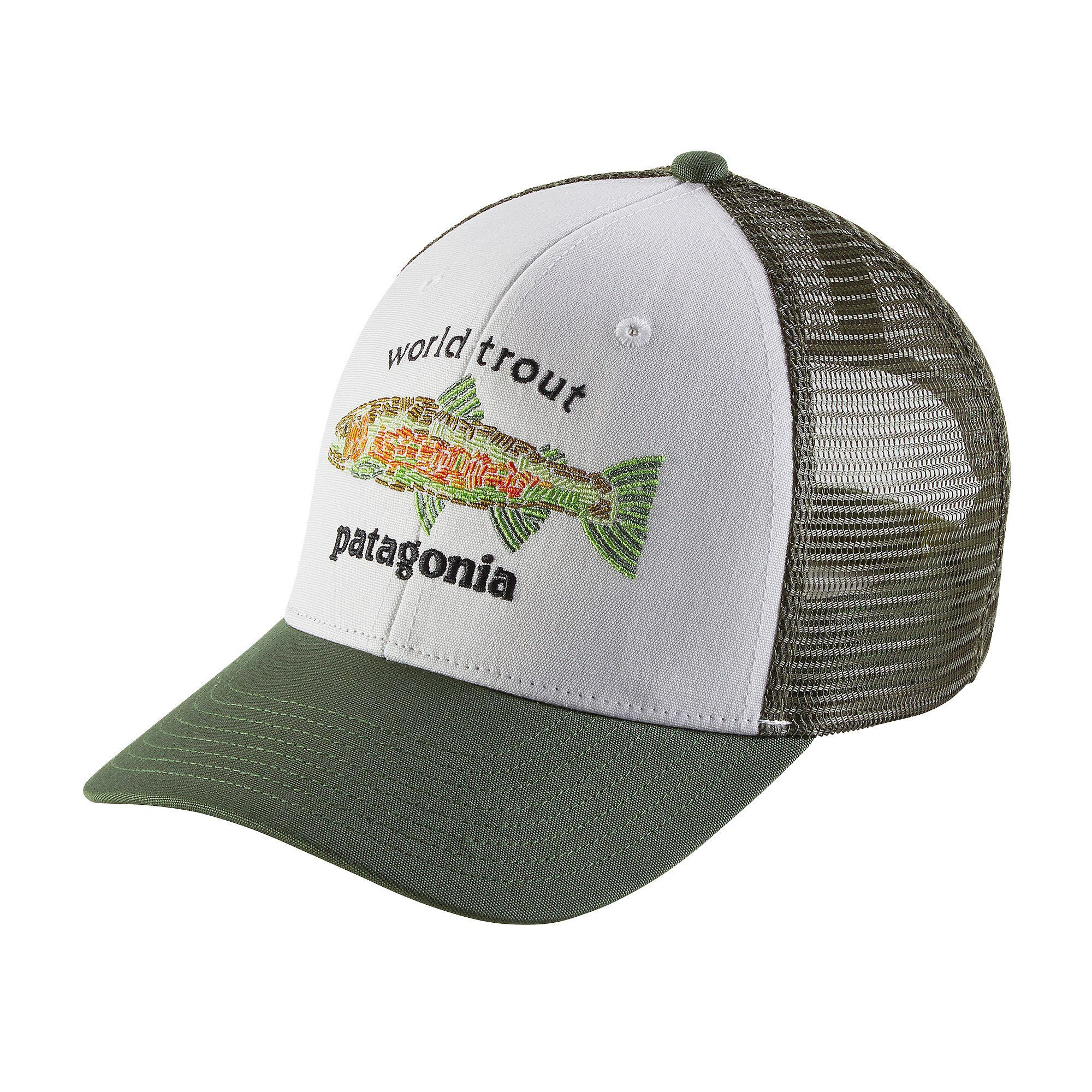 cb59d172 Patagonia World Trout Fishstitch Trucker Hat - White | truckers hats ...