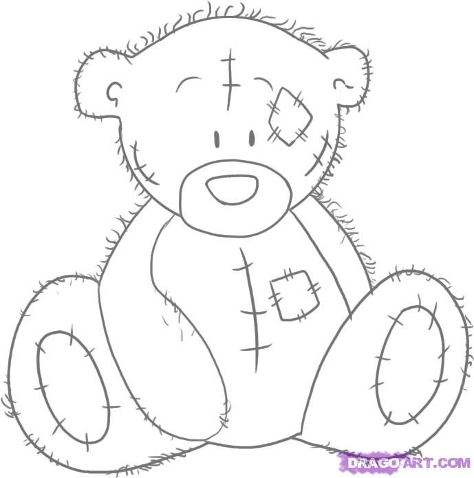 How to Draw Tatty Teddy the Me To You Bear, Step by Step ...