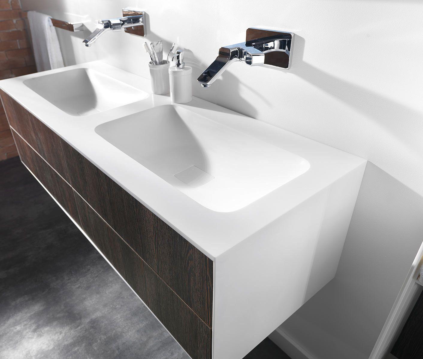 Meuble salle de bains blanc mat Ambiance Bain Kitoi | Espace Aubade ...