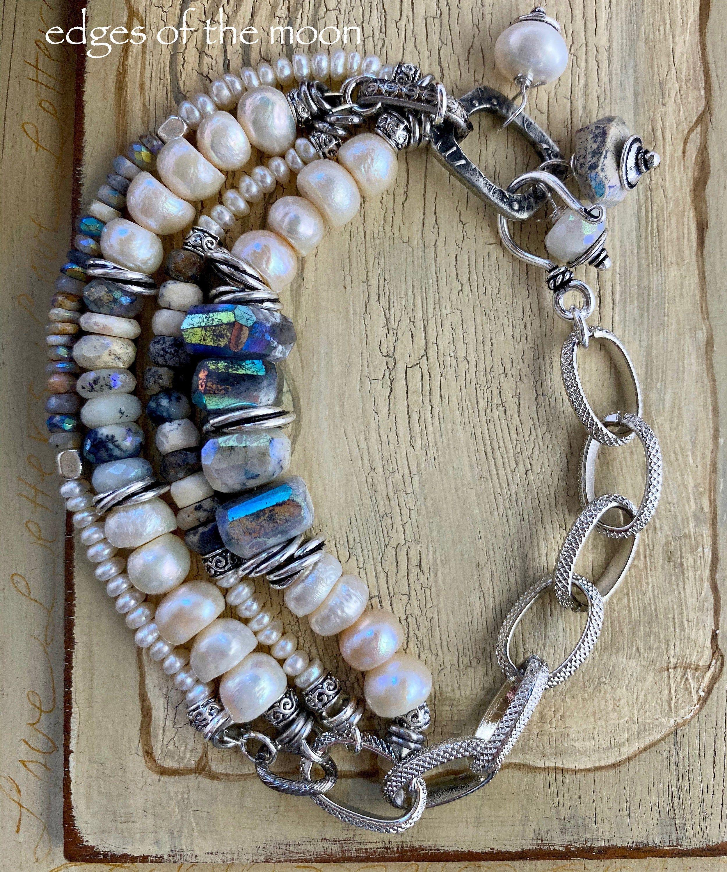boho chic bracelet bracelet rainbow moonstone bracelet dendrite opal bracelet for her bohemian bracelet bracelet bohemian bracelet