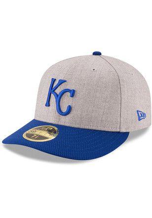 New Era Kansas City KC Royals Fitted Hat Cap Black//Royal//White