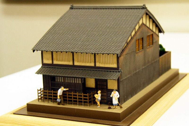 京町家模型1 50 建築模型 町家 建築
