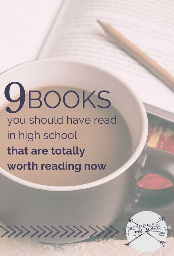9 books you should have read in high school that are totally worth reading now. | Young adult books to read as an adult | Teen books for adults