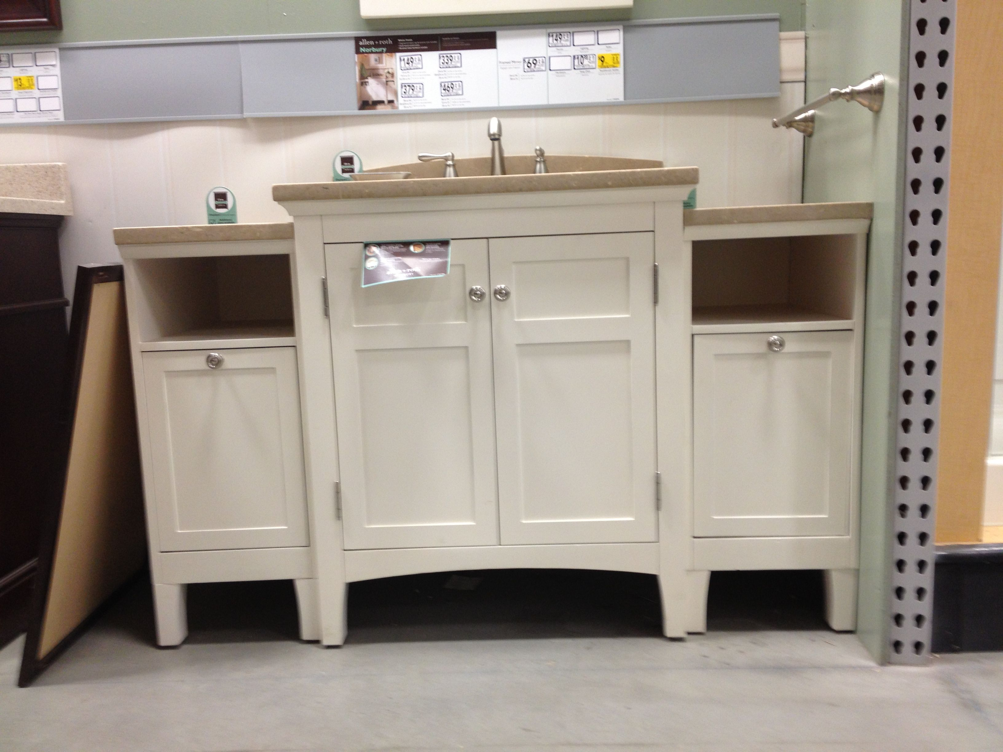 From lowes. 56 inches total | Vanity, Bathroom, Master bath