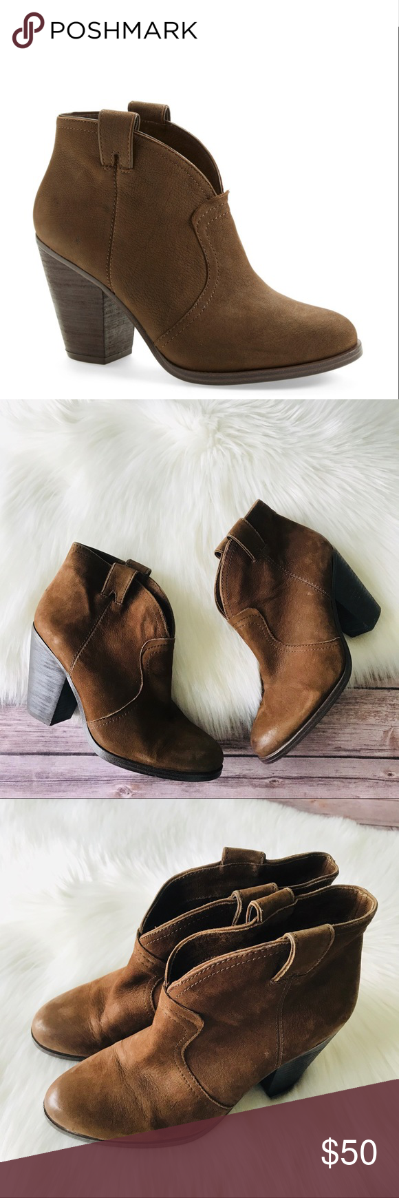 Vince Camuto Hillsy Ankle Bootie Shoes 8.5